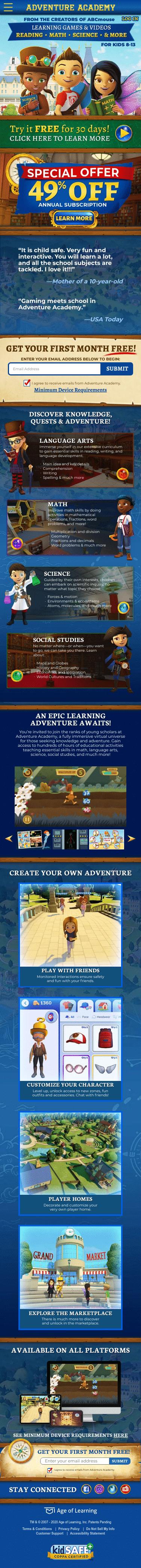AdventureAcademy.com Coupon