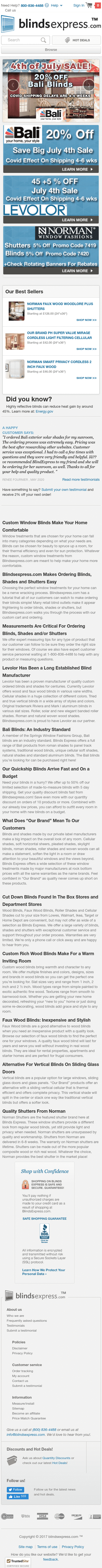 Blinds Express-Brand Name Window Coverings Coupon