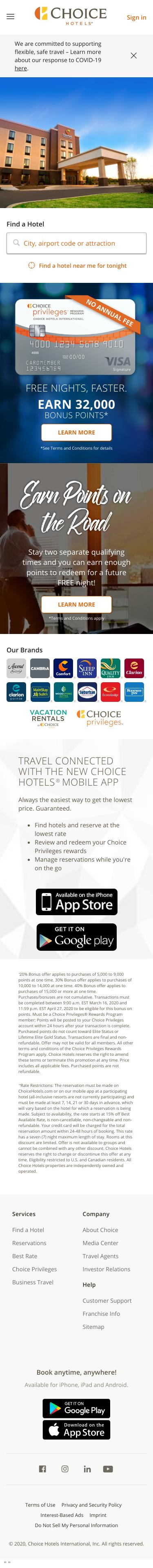Choice Hotels Coupon