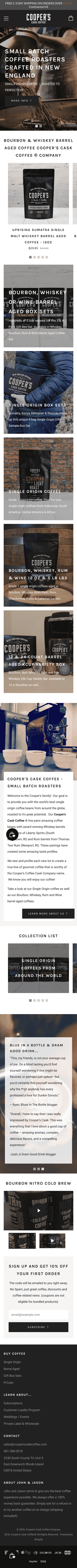 Coopers Cask Coffee Coupon