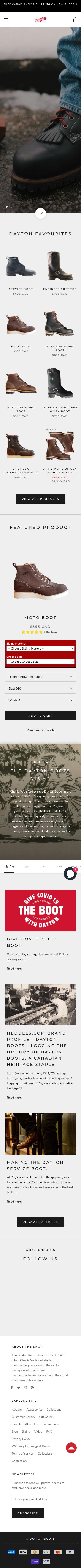 Dayton Boots Partner Program Coupon