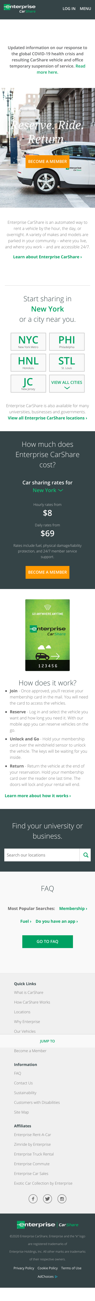 Enterprise CarShare Coupon