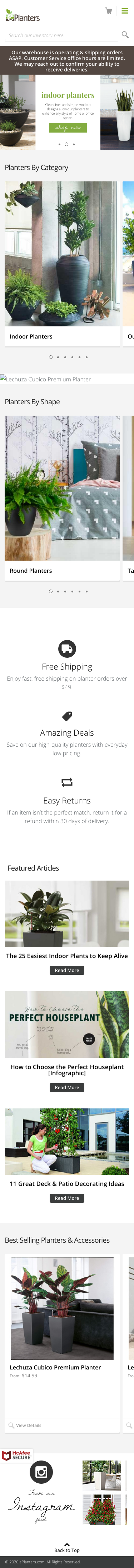 ePlanters Coupon