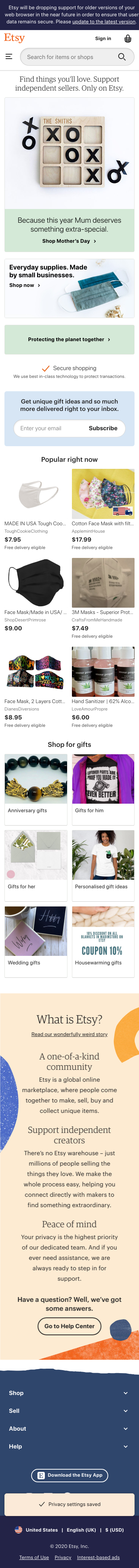 Etsy Coupon