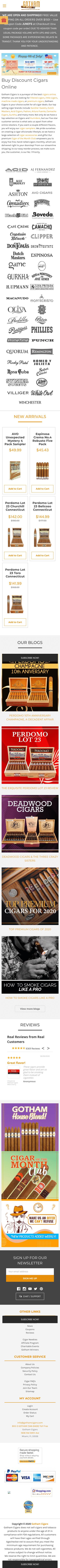 Gotham Cigars Coupon