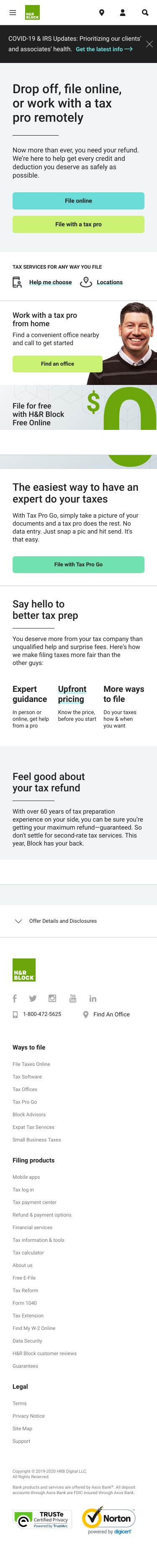 H&R Block Tax Prep Coupon