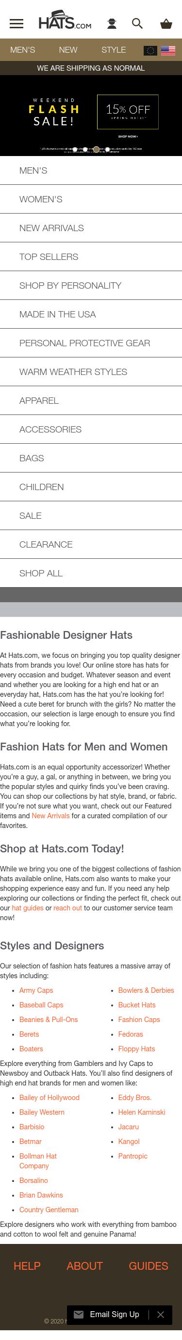 Hats.com Coupon