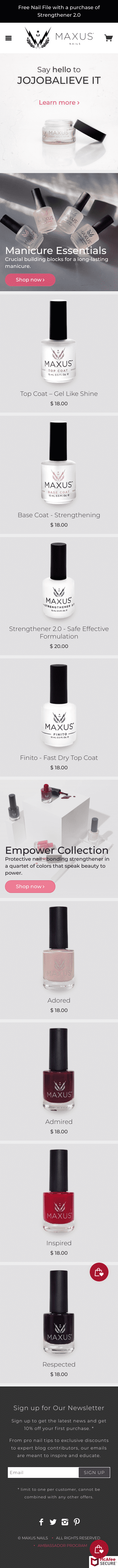 Maxus Nails Coupon