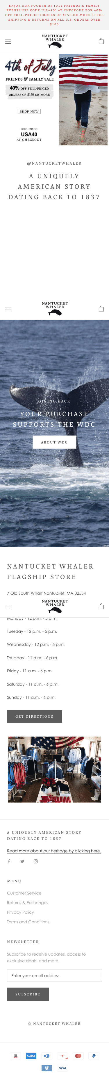 Nantucket Whaler Coupon