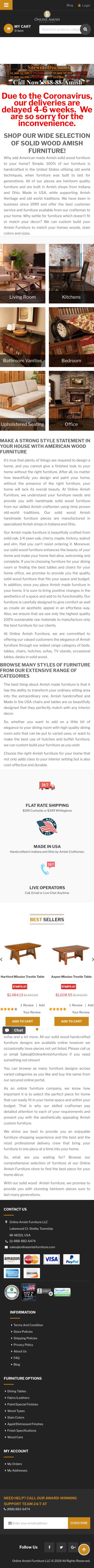 Online Amish Furniture Coupon