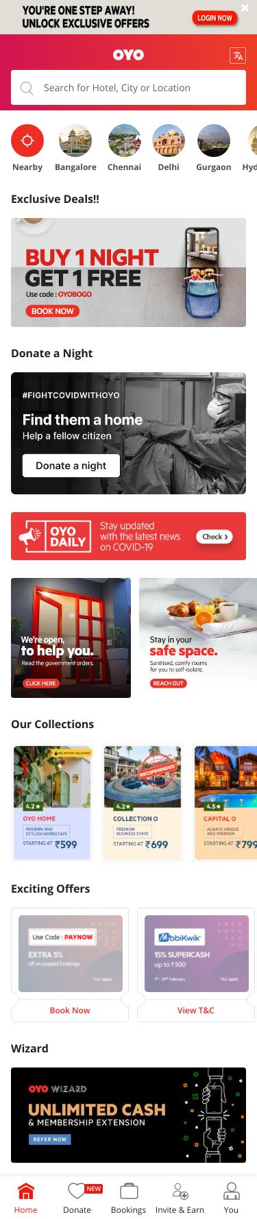 OYO Hotels Coupon
