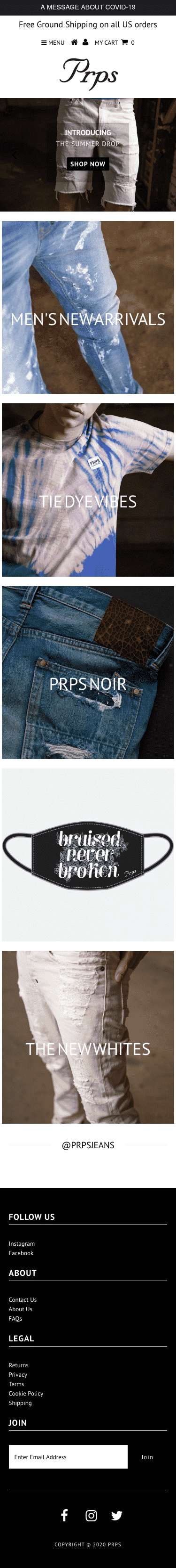 Prps Jeans Coupon