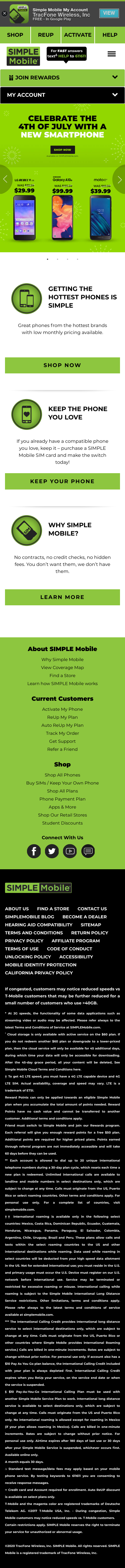 SIMPLE Mobile Coupon