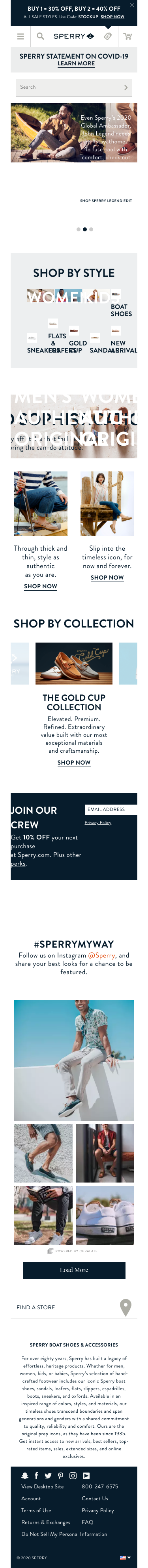 Sperry Coupon
