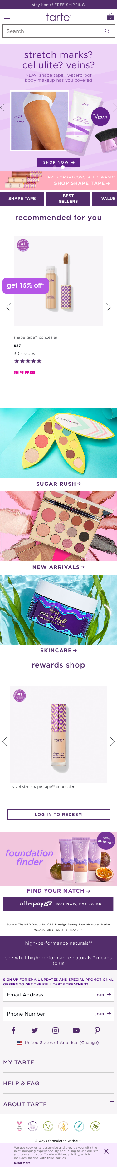 tarte cosmetics Coupon