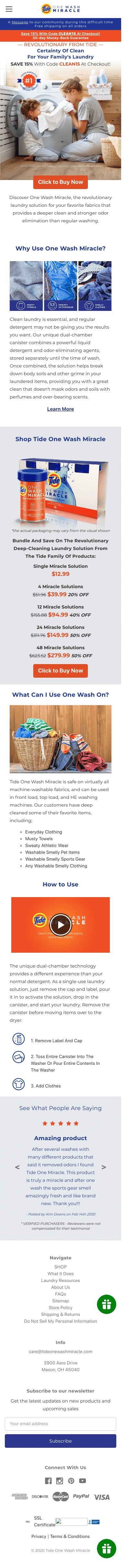 Tide One Wash Miracle Coupon