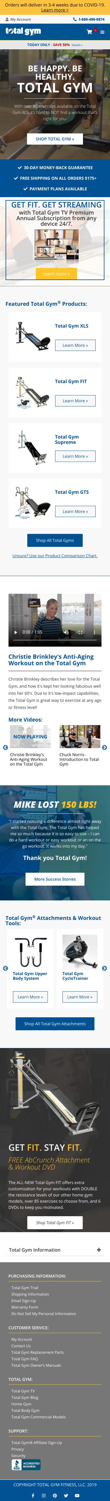 Total Gym Coupon