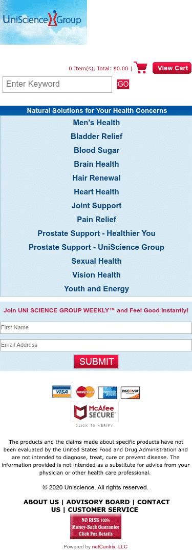 UniScience Group Coupon