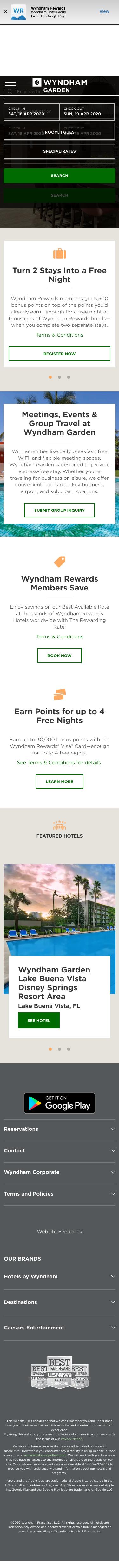 Wyndham Garden Coupon
