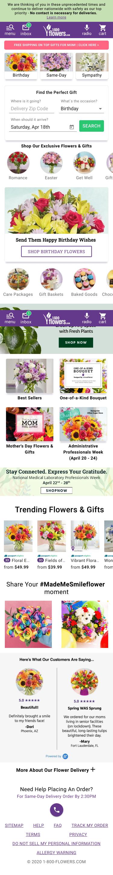 1800flowers.com Coupon