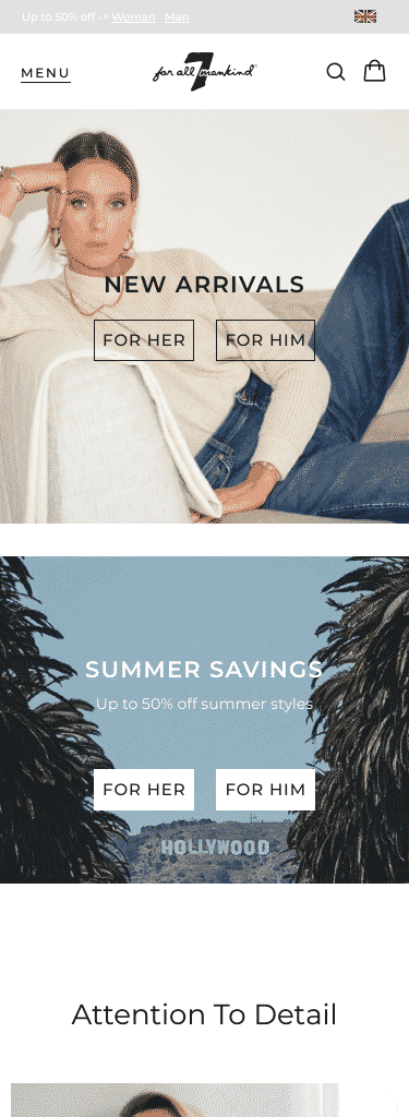 7 For All Mankind, a division of DG Premium Brands, LLC Coupon