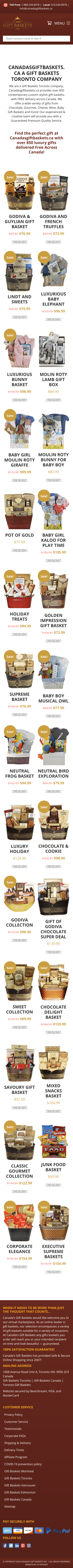 Canada's Gift Baskets Coupon