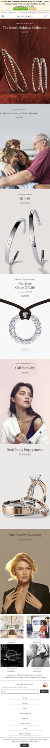 Gabriel & Co. Fine Jewelry And Bridal Coupon