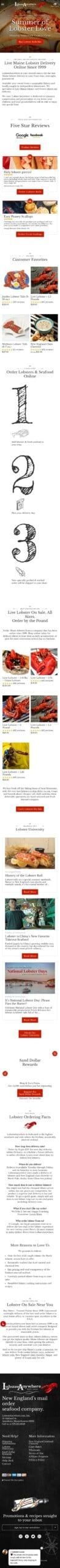 LobsterAnywhere.com Coupon
