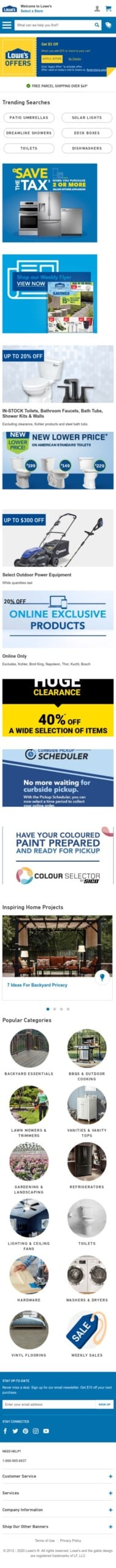 Lowe's Canada Coupon