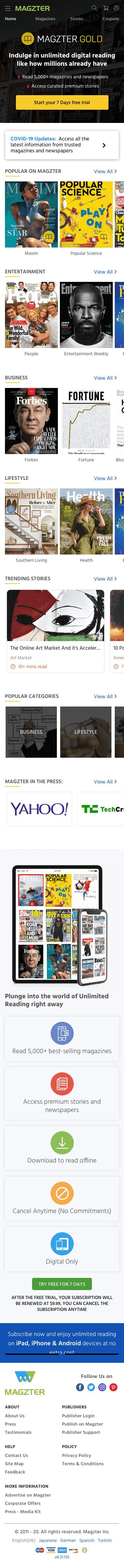 Magzter - Digital Magazine Newsstand Coupon