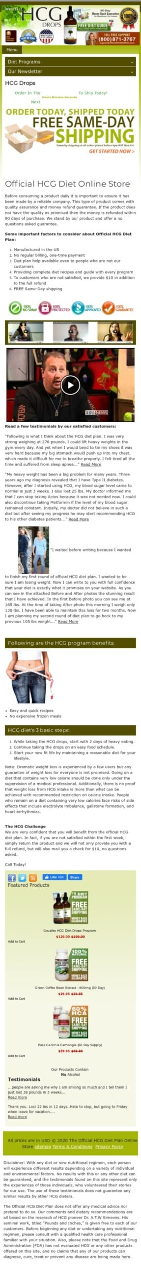 official hcg diet plan Coupon