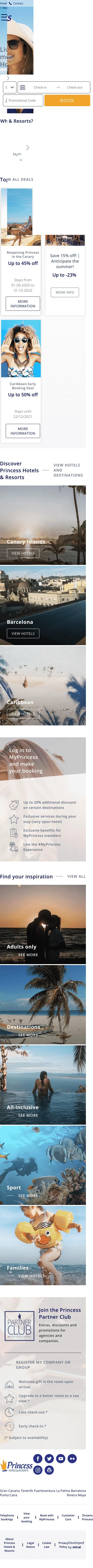 Princess Hotels Coupon