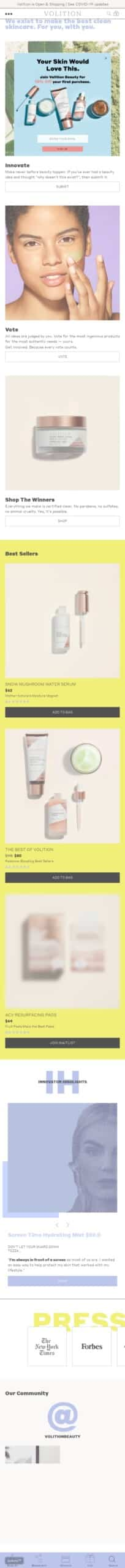 Volition Beauty Coupon