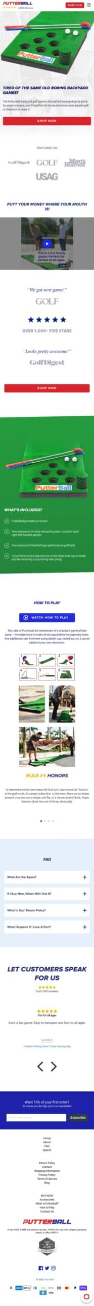 Putterball Game Coupon