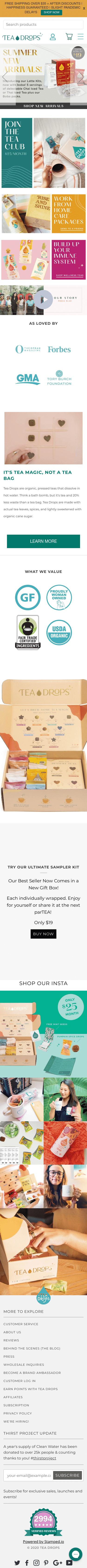 Tea Drops Coupon