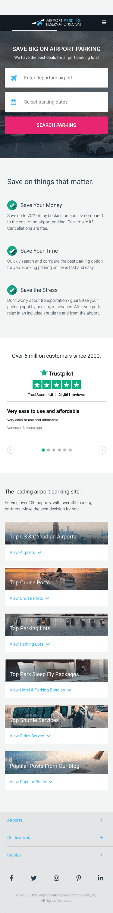 Airport Parking Reservations - point. click. park. Coupon
