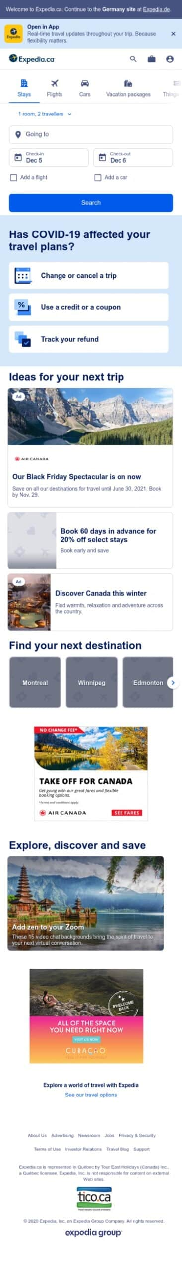 Expedia - Canada Coupon
