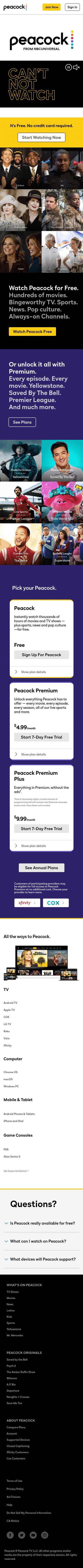 Peacock TV Coupon