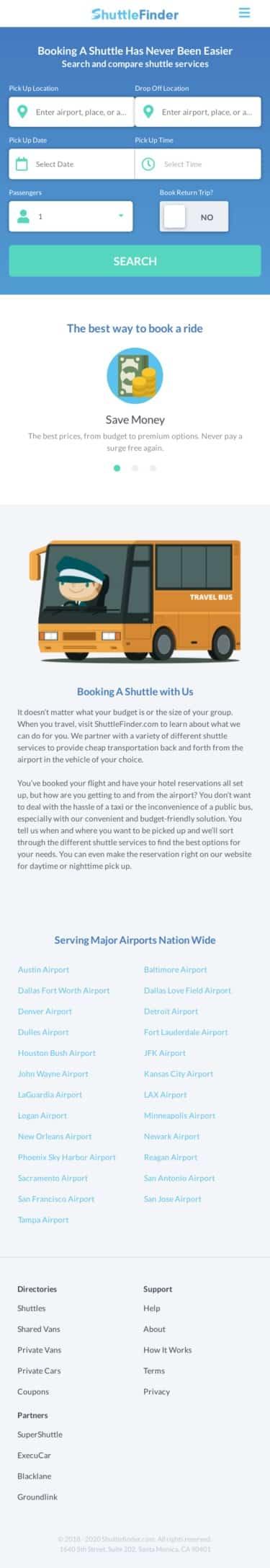 ShuttleFinder.com Coupon