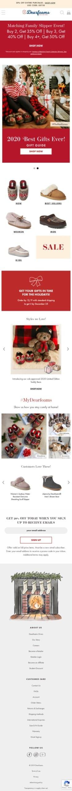 Dearfoams.com Coupon