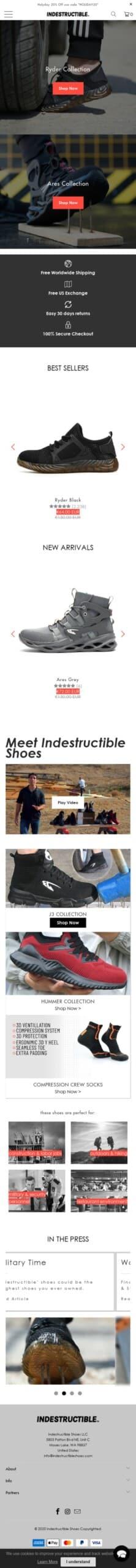Indestructible Shoes LLC Coupon